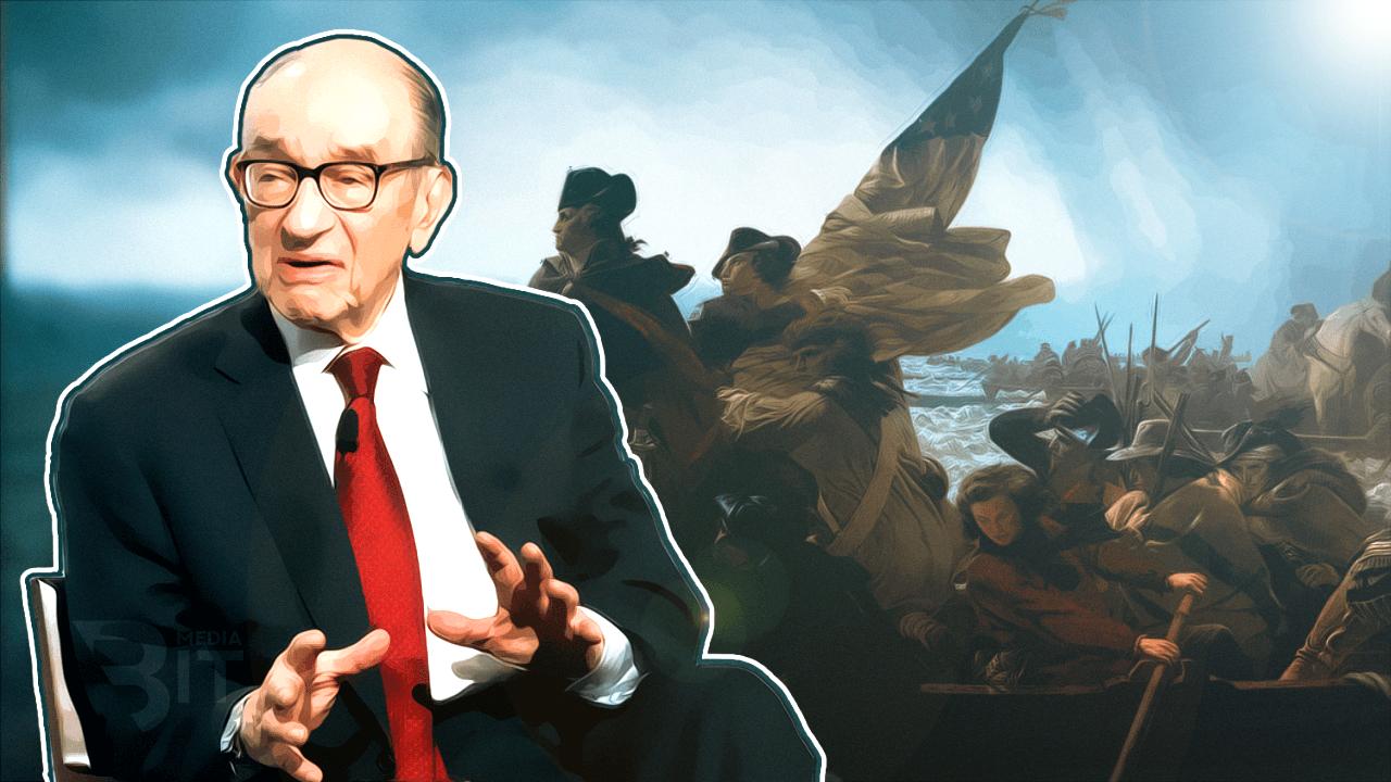 Алан Гринспен сравнил биткоин с американской валютой времен войны за независимость