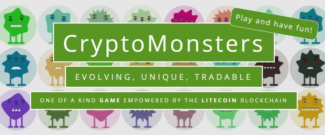 CryptoMonsters: первая игра на блокчейне Litecoin