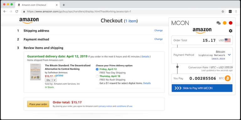 Теперь вы можете оплачивать покупки на Amazon биткоинами