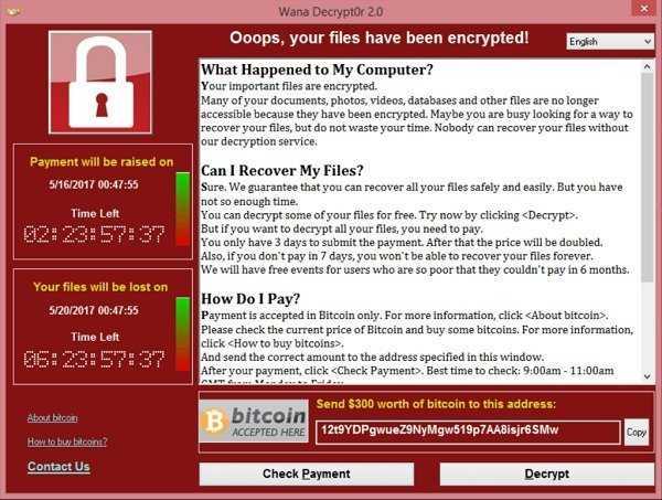 Создатели опасного вируса WannaCry вывели всё украденное